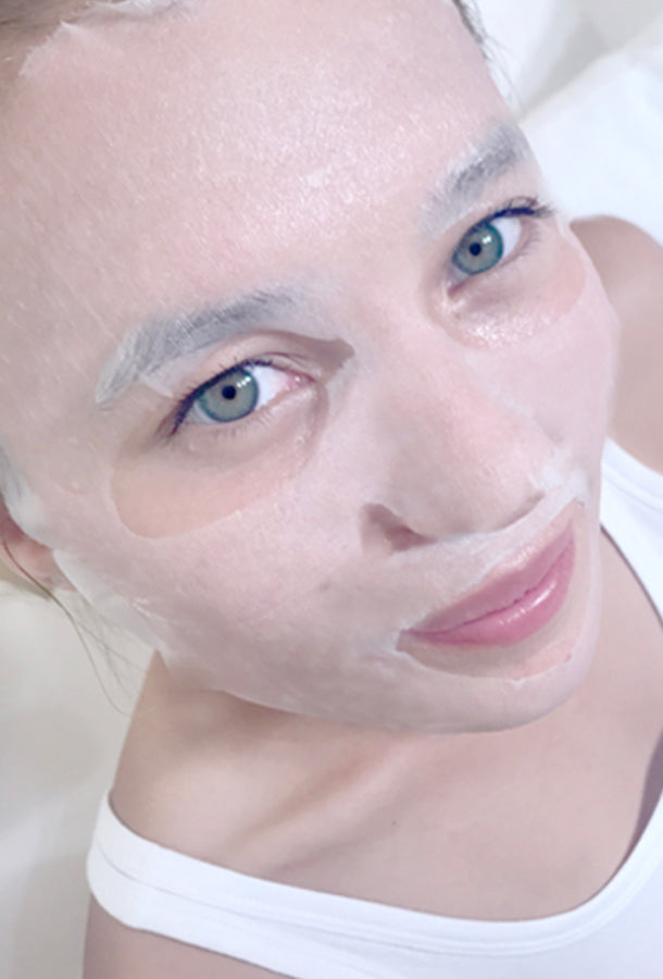 The Hydration Facial from sfglow, applied on skin
