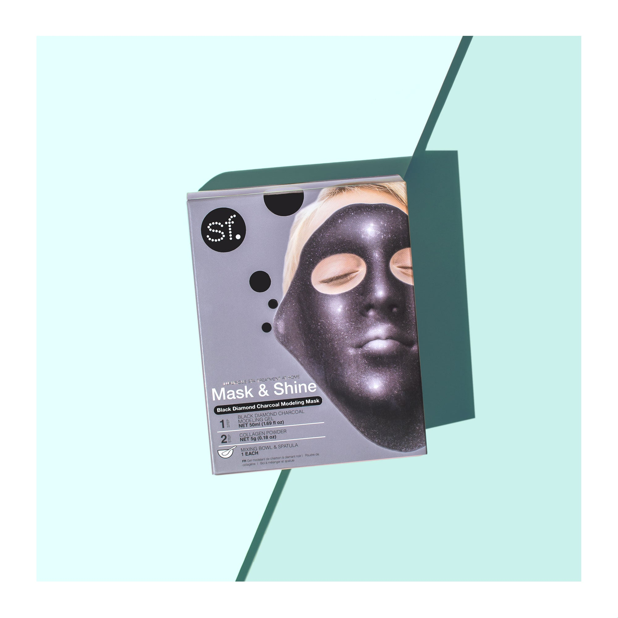 A box of Charcoal Rubber Mask, from the Mask & Shine Collection by sfglow