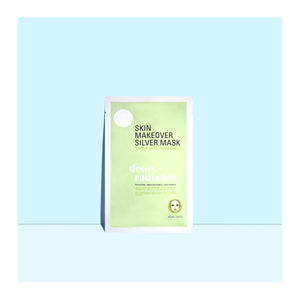 A pack of Silver Mask, part of the Makeover Sheet Mask Collection from sfglow