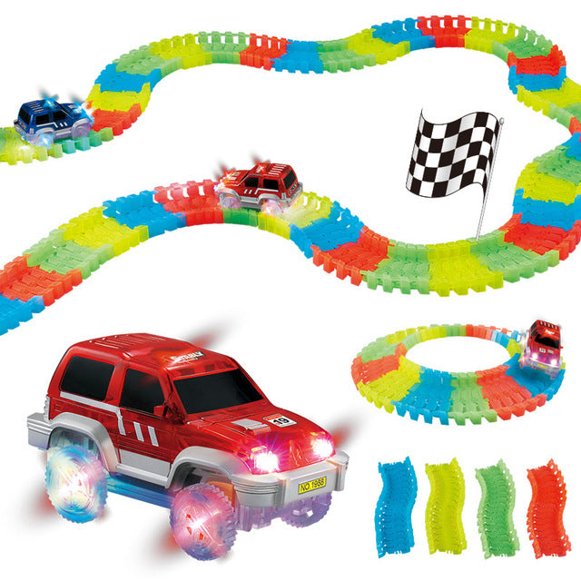 Light Track Car Miraculous Glowing Race Magic Bend Flex Tracks Flash