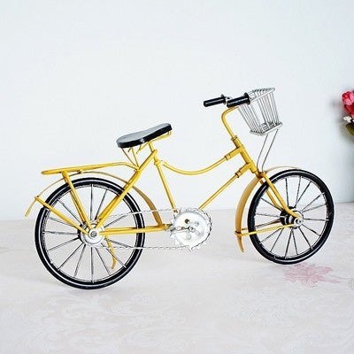Fashion Handmade Retro Metal Bike Model Vintage Iron Bicycle Collection