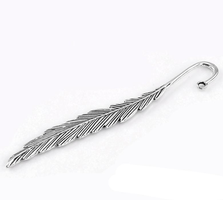 Metal Crafts Collection Bookmarks Feather Antique Silver