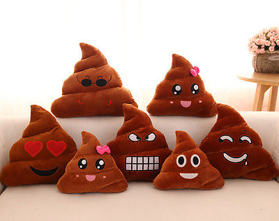 Newest Poo Family Emoji/Emoticon Soft Pillow