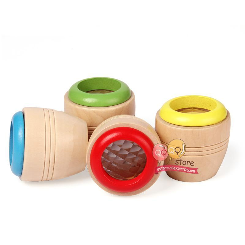 Magic Wooden Kaleidoscopes Fun Toys for Children Kids Gift