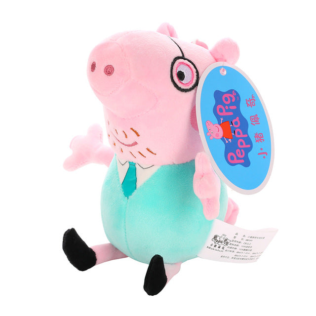 Brand George Pig Family Plush Toys Stuffed Doll Party decorations Schoolbag Ornament