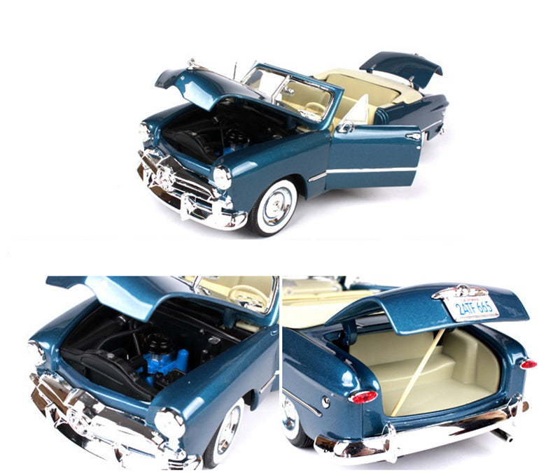 Convertible Vintage Classic Car Blue/Black Zinc Alloy Car