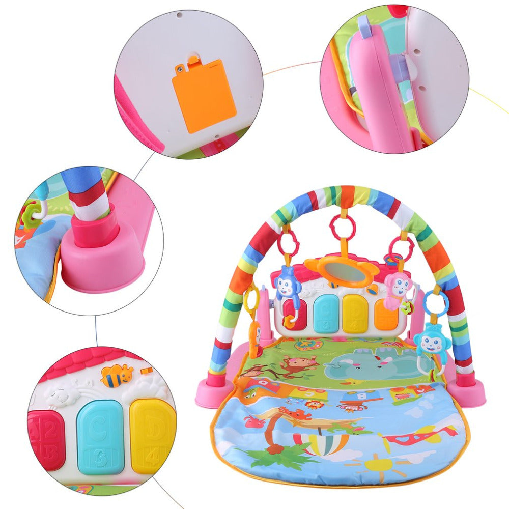 Baby Play Rug Toddler Music Mat Crawling Children's Pad with Keyboard