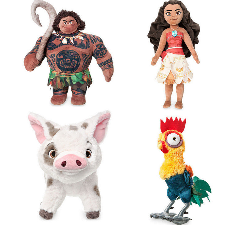 Moana Plush Toys Kawaii Princess Moana Maui Heihei Plush