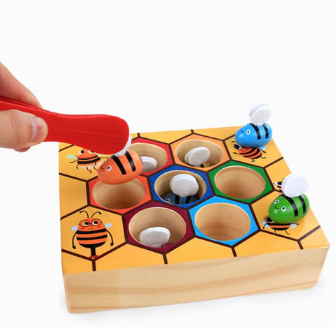 Hive Games Board Bees with Clamp Fun Picking Catching Toy Educational Beehive