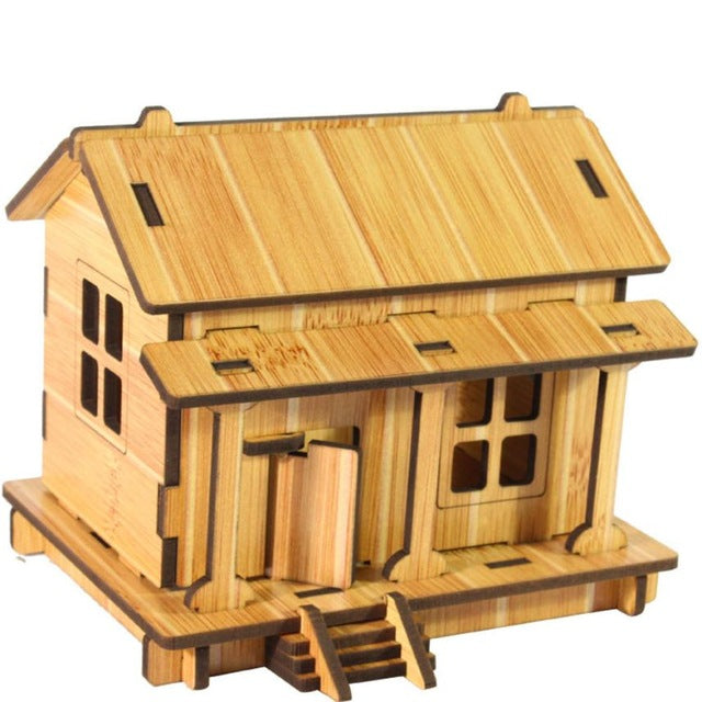 Toys Wooden Adult Children's Intelligence Developmental Toys House