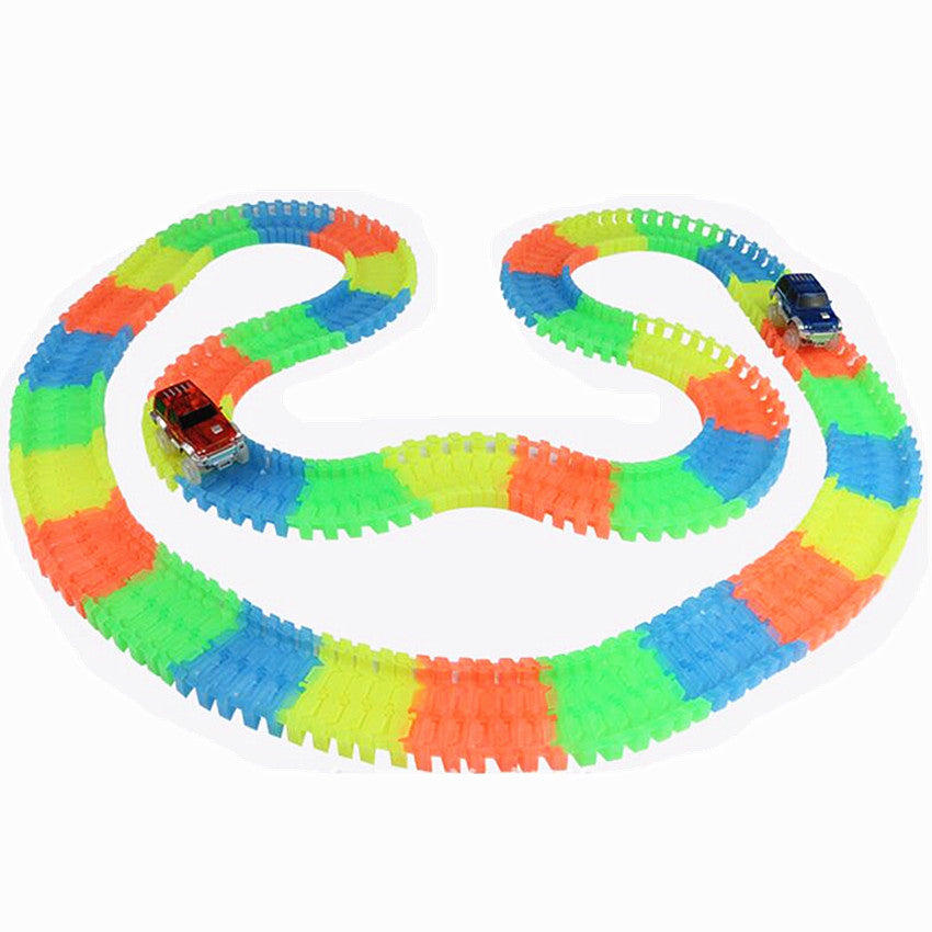 Kid Car Set With Glows In The Dark Track Roller Coaster Track Toy
