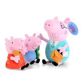 Original George Pig Plush Toy Mother Father Pig Doll Birthday Gift Toy For Girl Kids