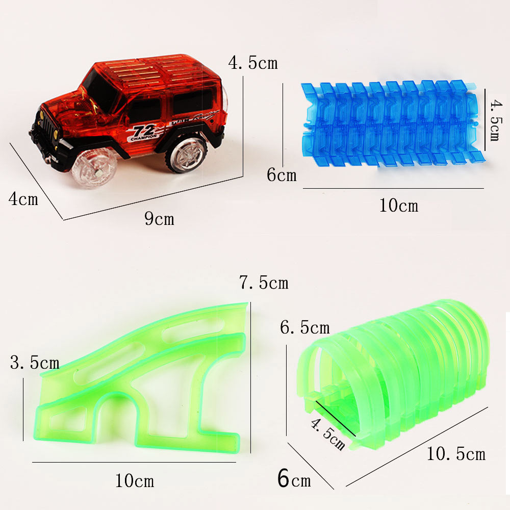 LED Mini Car Tunnel Bridge Birthday Gift Glowing in the Dark Electric Car