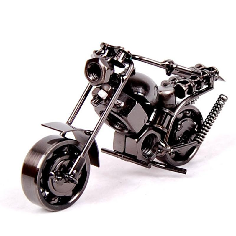 Motorcycle Model Retro Motor Figurine Metal Decoration