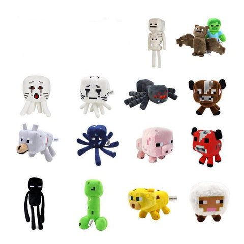 Toys Minecraft Creeper Enderman Wolf Steve Zombie Spider Sketelon