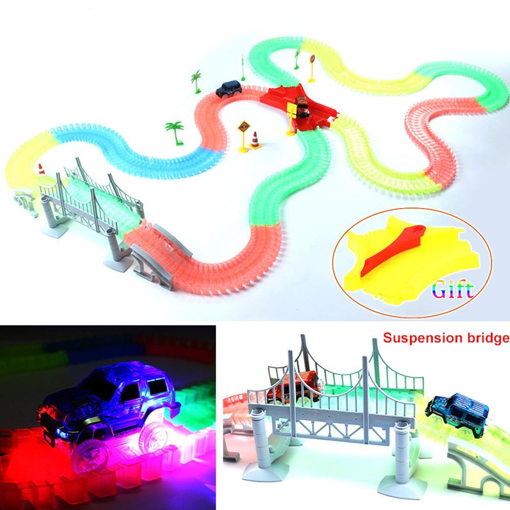 LED Car Miraculous Glowing Race Track Bend Flex Flash in the Dark Assembly