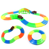 Race Car Twister Track LED Flashing Light Tracking Rail Flexible Changeable Railway