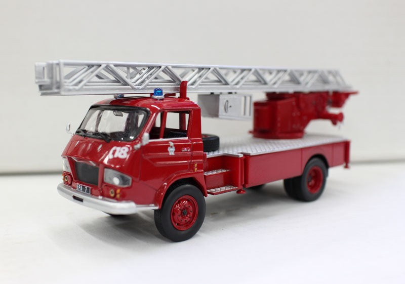 French Vintage Fire Truck Ladder Model N Alloy Collection Model