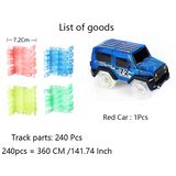 Track Car Hot Wheels Glowing Lighting DIY Slot Led Battery Electric
