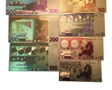 Gold Plated Paper Money The Euro Gold Foil Banknote Set Worth Collection