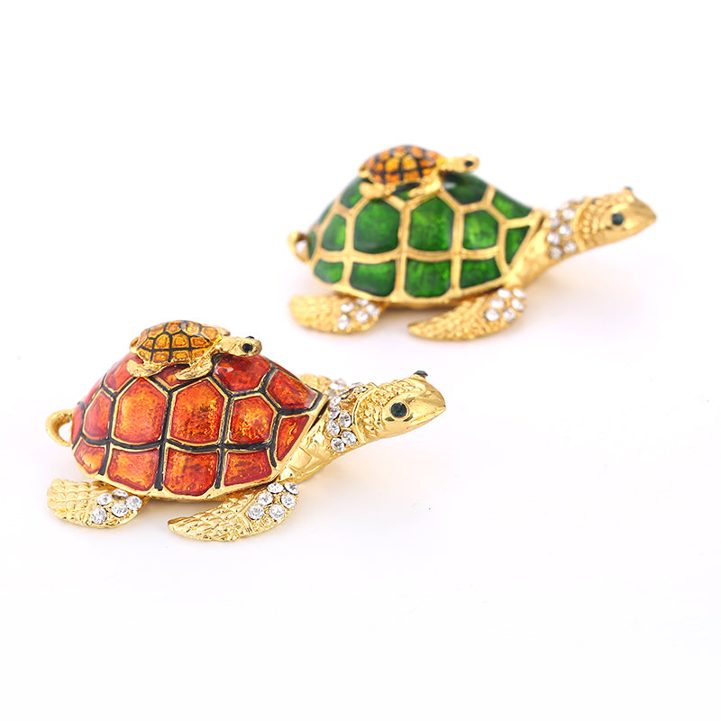 Collectible Souvenir Sea Tortoise Jewelry Trinket Box Decoration Hand Made