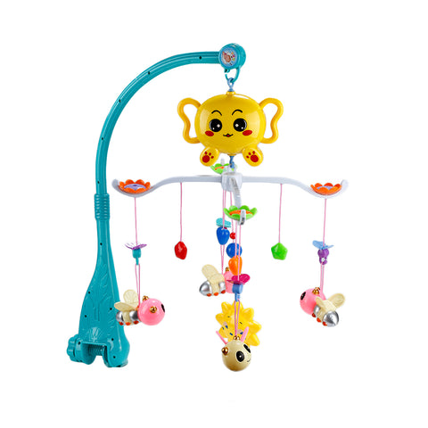 Baby Bed Bell Newborn Toy Cute Bee Rotating Music Bed Hanging Baby