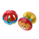 Cute Rattles Bear Ring Jingle Handbells Musical Developmental Toys