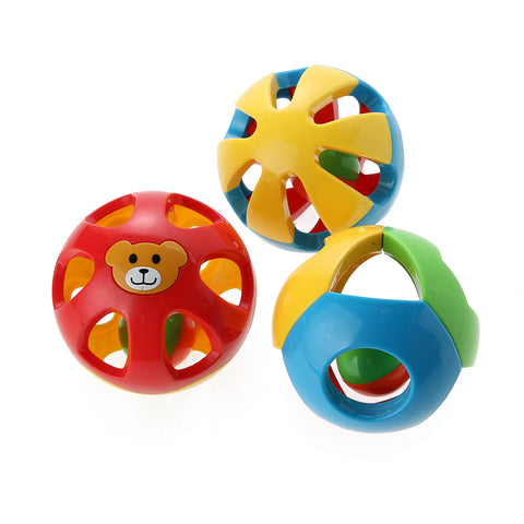 Round Jingle Ball Colorful Baby Toy Cute Handbells Musical Developmental Toys