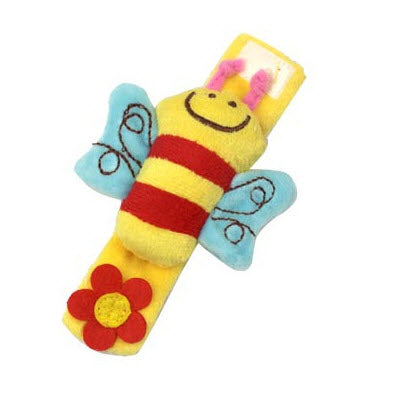 Baby Plush Wrist Strap Bebe Bee Monkey Cow Sheep Infant Soft Finders Developmental Toy