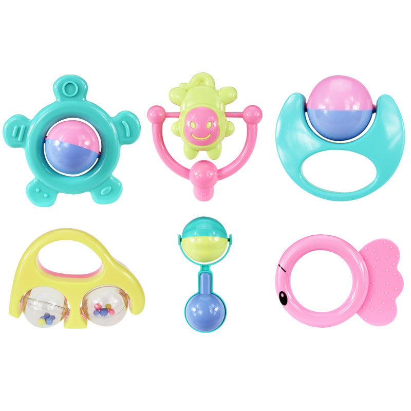 New Infant Baby Toy 6PCS/Set Bebes Handbells Developmental Toy Bed Bells Kids Animal Toys