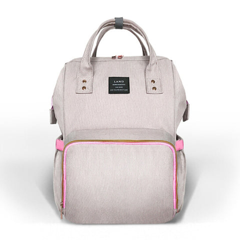 Sac à dos de nursery - gris rose - BeHappykidz