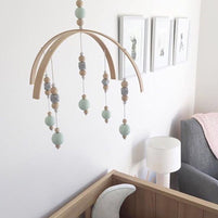 Suspension de lit - perles en bois - BeHappykidz