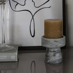 Candle Holder by CARRARA_HOME_DESIGN® in Marmo Grigio Bardiglio
