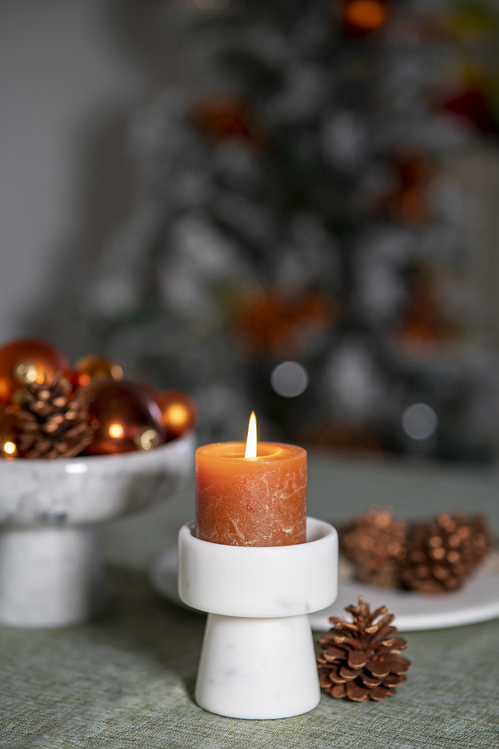 Candle Holder by CARRARA_HOME_DESIGN® in Marmo Bianco Carrara