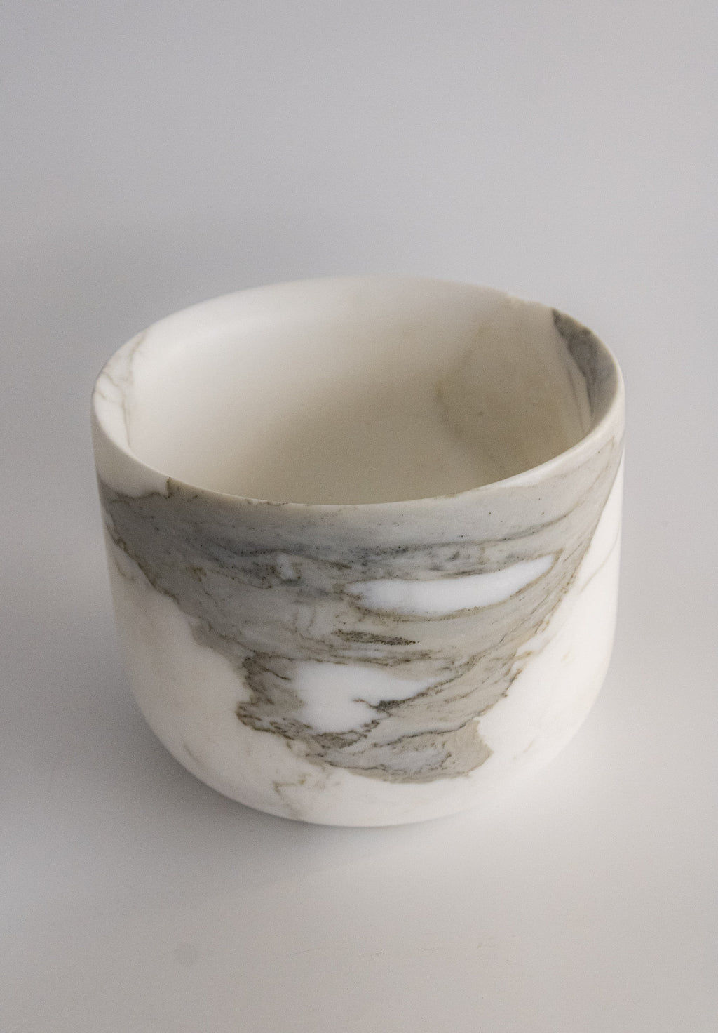 """Candy Marble Bowl"" in Marmo Bianco Calacatta by CARRARA_HOME_DESIGN®"
