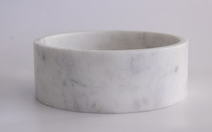 """Modern Bowl"" in Marmo Bianco di Carrara by CARRARA_HOME_DESIGN®"