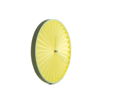 Wall Clock Harmonica Lemon and Lime, Geometric Style for a Minimalist but Colorful Home