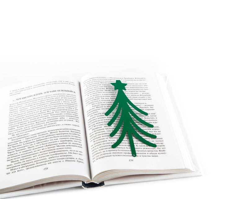 Metal book bookmark Christmas Tree in Your Book by Atelier Article