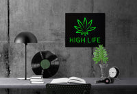 LED Sign // Wall Art // High Life // Handmade by Atelier Article - Design Atelier Article
