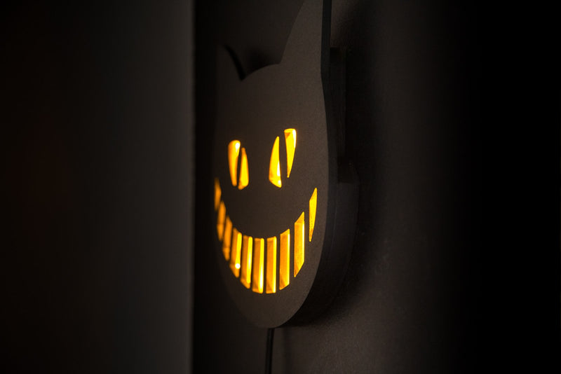 Cheshire Cat LED wall sign by Article