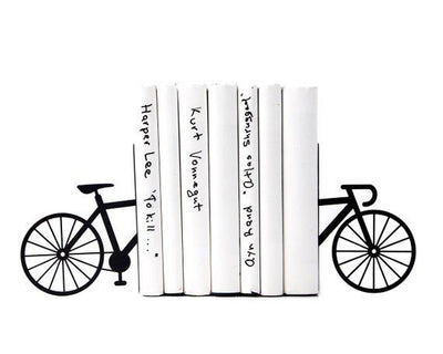 Metal Bookends Black Bicycle by Atelier Article