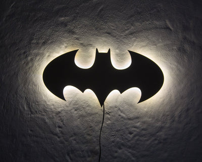 Batman LED Sign WHITE // Wall Art