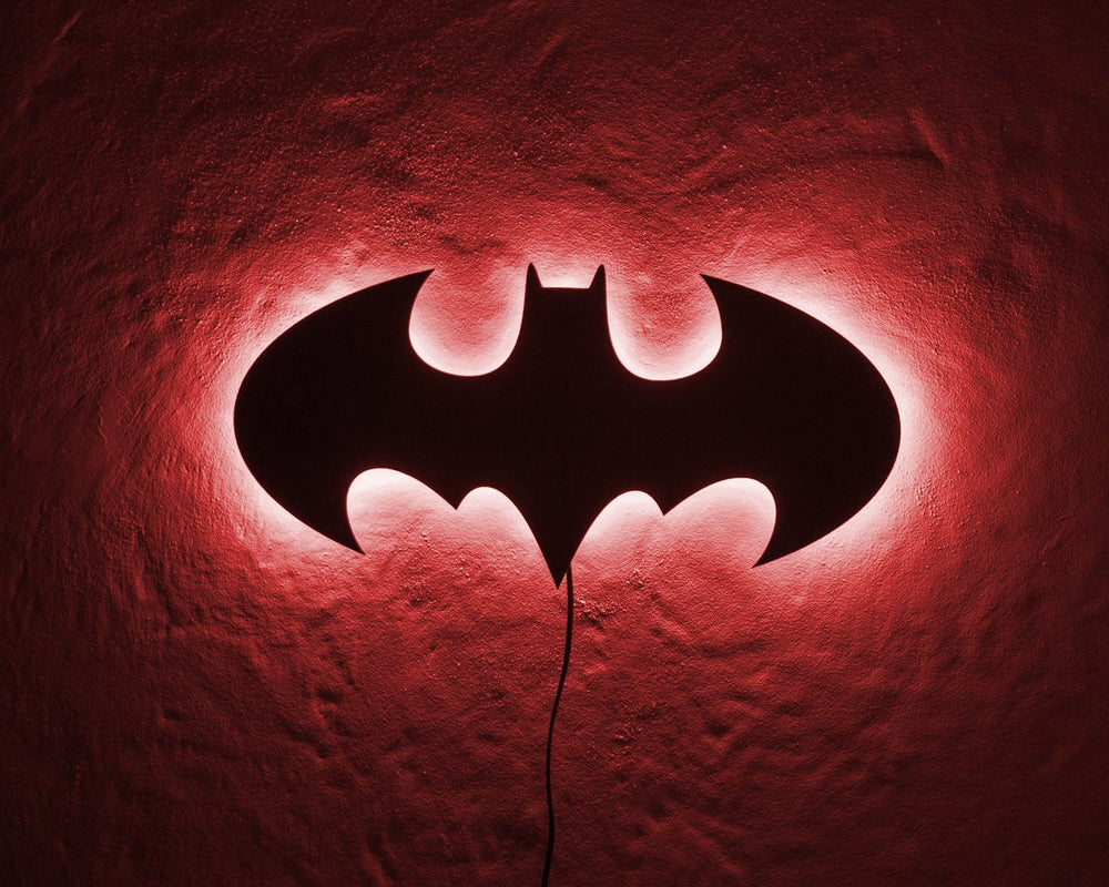 Batman LED Sign RED // Wall Art