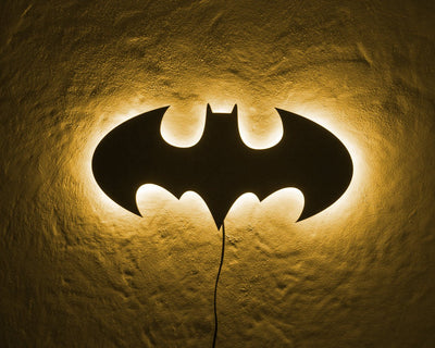 Batman LED Sign YELLOW // Wall Art