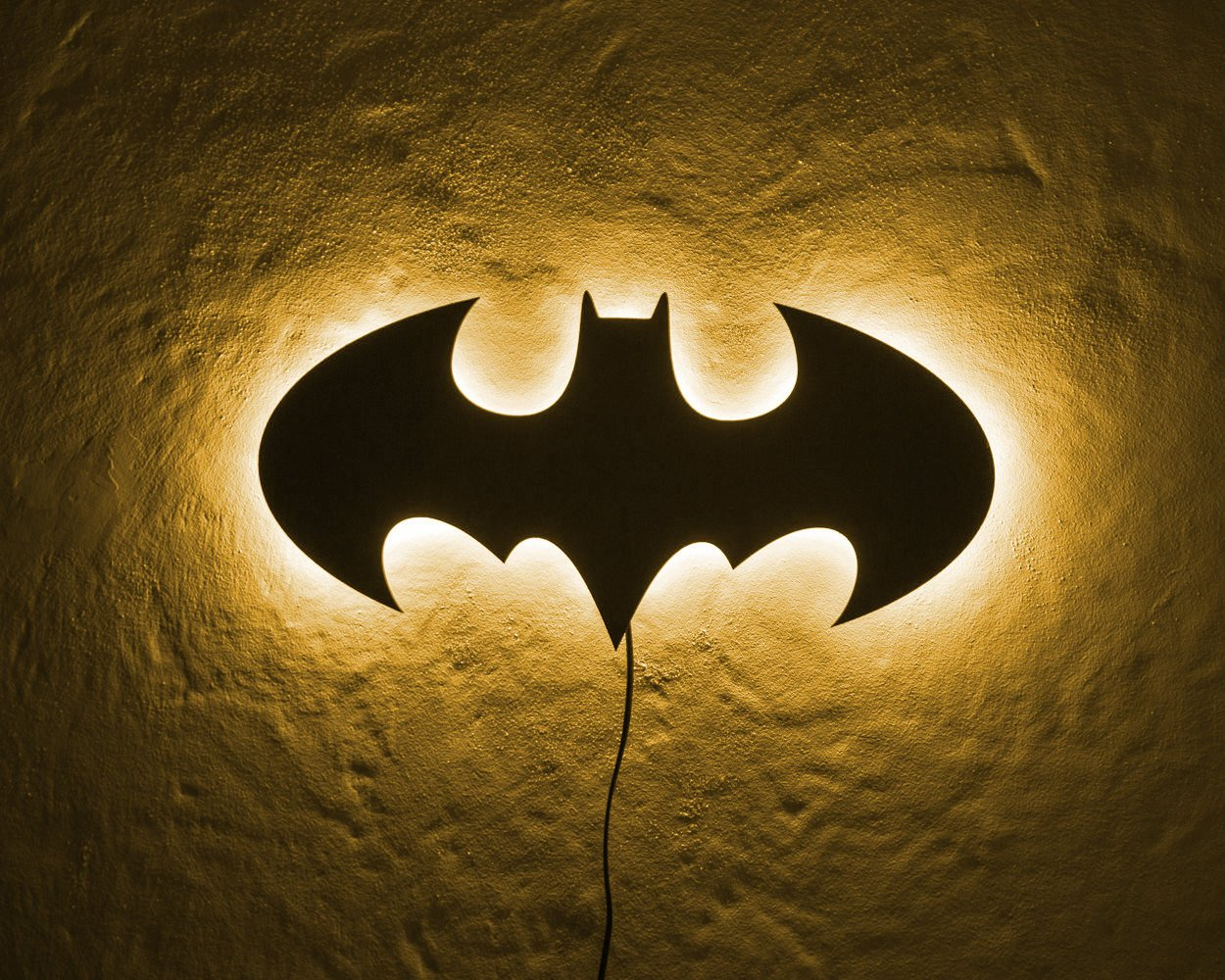 Batman LED Sign BLUE // Wall Art // Handmade from MDF Wall Led light ...