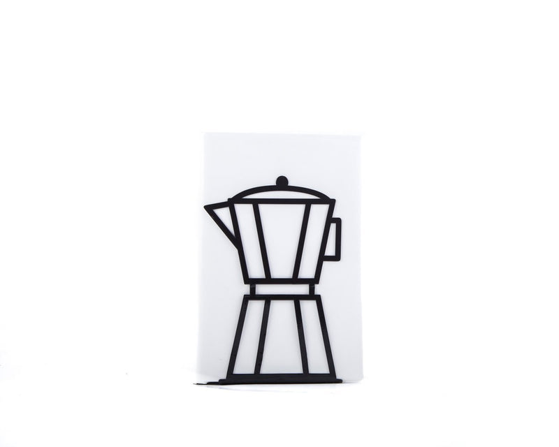 Metal Kitchen bookend // Black Coffee pot - Design Atelier Article