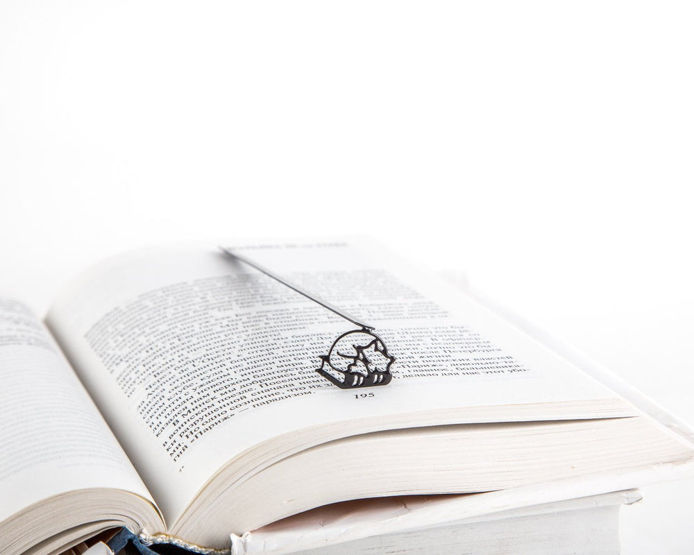 Metal Bookmark for Books // Sleeping Fox on the book by Atelier Article - Design Atelier Article