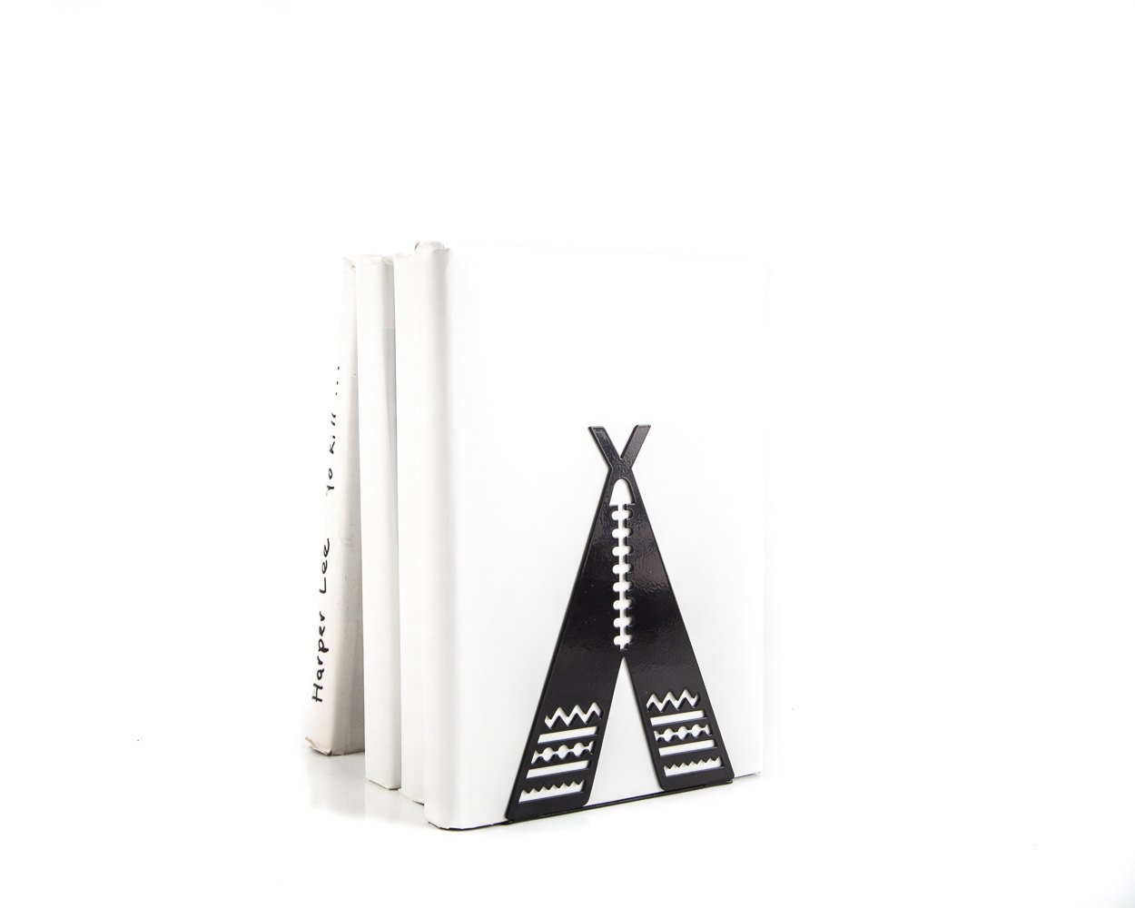 A Unique metal bookend // Tipi // Teepee  // functional decor for modern nursery // cookbook book holder // FREE SHIPPING worldwide /