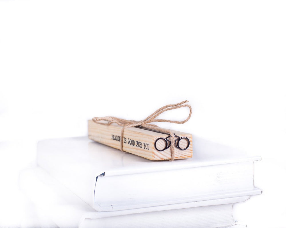 Metal Bookmark for books Pince-nez // Eyeglasses by Atelier Article - Design Atelier Article