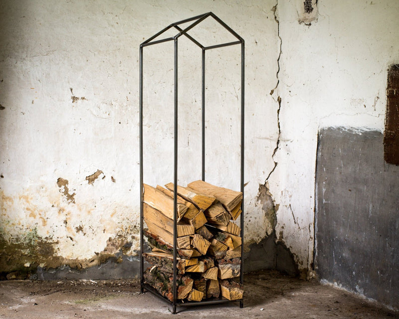 Firewood Holder // Log Storage for indoors // Hand welded  Raw style by Atelier Article